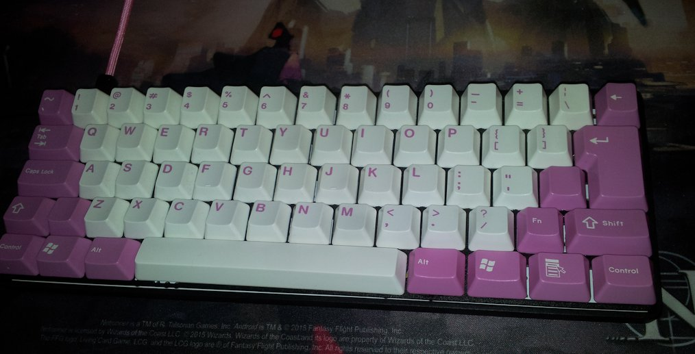 The beautiful keycaps