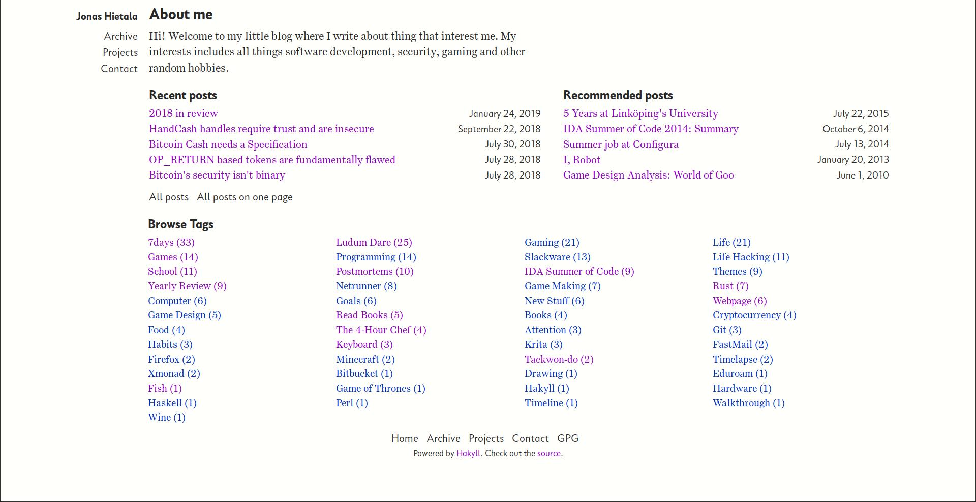Jonas Hietala: My Weblog